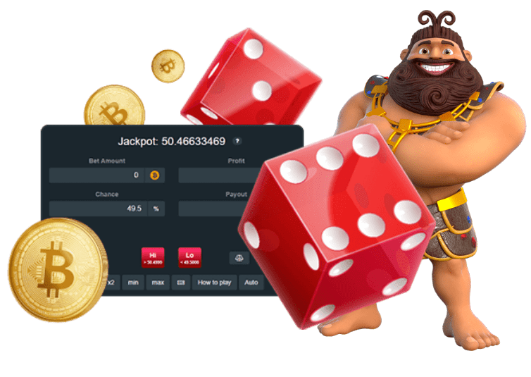 Dice with Casino Character