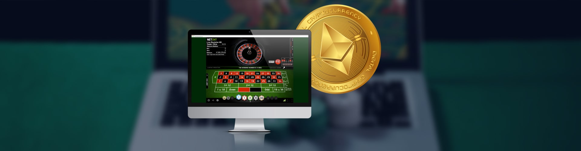 Ethereum Coin and Screen